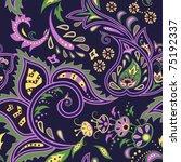 colorful dark blue seamless... | Shutterstock .eps vector #75192337
