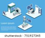 isometric 3d illustration... | Shutterstock . vector #751927345