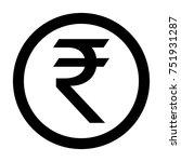 indian rupee coin inr | Shutterstock .eps vector #751931287