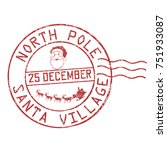 north pole  santa village... | Shutterstock .eps vector #751933087