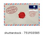 letter from santa claus with... | Shutterstock .eps vector #751933585