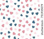 seamless hearts pattern. vector ...   Shutterstock .eps vector #751935079
