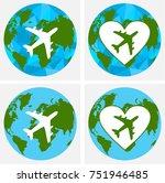 love travel concept...   Shutterstock .eps vector #751946485
