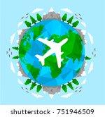 love travel concept... | Shutterstock .eps vector #751946509