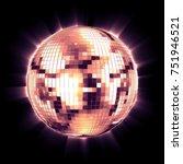 ball disco pink mirror...   Shutterstock . vector #751946521