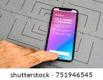 paris  france   nov 9  2017 ... | Shutterstock . vector #751946545
