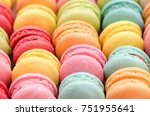 sweet colorful macaroons for... | Shutterstock . vector #751955641
