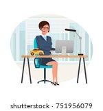 taxi order service. girl...   Shutterstock .eps vector #751956079