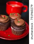 Christmas Cupcakes And Coffee