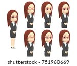 oblique angle woman suits... | Shutterstock . vector #751960669