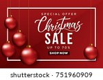 christmas sale banner. special... | Shutterstock .eps vector #751960909