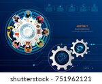 business meeting and... | Shutterstock .eps vector #751962121