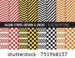 Hazard Stripes  Chevron And...