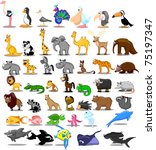 extra large set of animals... | Shutterstock .eps vector #75197347
