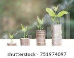 business finance and money... | Shutterstock . vector #751974097