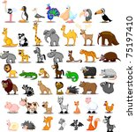 extra large set of animals... | Shutterstock .eps vector #75197410