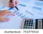 business concept. business team ... | Shutterstock . vector #751975414