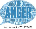 anger adhd word cloud on a... | Shutterstock .eps vector #751975471