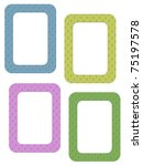 color photo frames with golden... | Shutterstock . vector #75197578