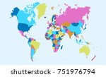color world map vector | Shutterstock .eps vector #751976794