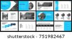 blue presentation templates... | Shutterstock .eps vector #751982467