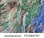 decorative dry colorful straw... | Shutterstock . vector #751984747