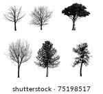 tree  set   Shutterstock . vector #75198517