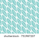 vector illustration of leaves... | Shutterstock .eps vector #751987207