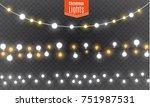 christmas lights isolated on... | Shutterstock .eps vector #751987531