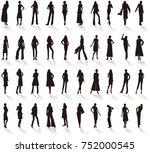 silhouette   women's fashion   Shutterstock .eps vector #752000545