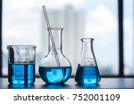 science laboratory beaker ... | Shutterstock . vector #752001109