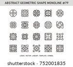 geometric modern vector logos... | Shutterstock .eps vector #752001835