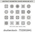 geometric modern vector logos... | Shutterstock .eps vector #752001841