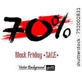 black friday banner. black... | Shutterstock .eps vector #752002831