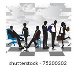 portrait of a business meeting. | Shutterstock .eps vector #75200302