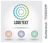 circle halftone logo icon...   Shutterstock .eps vector #752003359