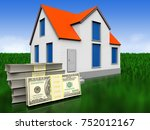 3d Illustration Of House With...