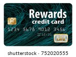 a rewards credit card is... | Shutterstock . vector #752020555