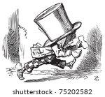 Stock vector mad hatter just as hastily leaves alice s adventures in wonderland original vintage engraving 75202582