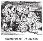 cook  duchess  cheshire cat ... | Shutterstock .eps vector #75202585