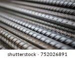 stack of steel bar texture in... | Shutterstock . vector #752026891