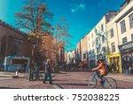 october 23  2017  cambridge ... | Shutterstock . vector #752038225