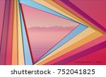 template abstract background... | Shutterstock .eps vector #752041825