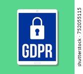 gdpr   general data protection... | Shutterstock .eps vector #752055115