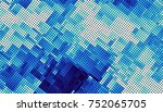 blue abstract geometric fractal ... | Shutterstock . vector #752065705