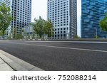 empty road and modern office... | Shutterstock . vector #752088214