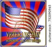 stock illustration   veterans... | Shutterstock . vector #752090965