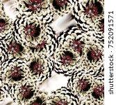 seamless background. flowers.... | Shutterstock . vector #752091571