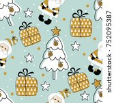 Holiday Seamless Pattern With...