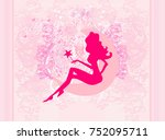 floral background with a...   Shutterstock . vector #752095711